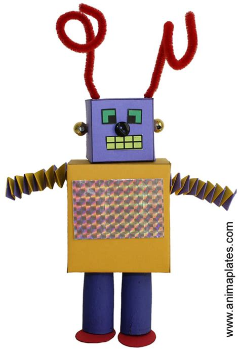 Make A Paper Robot - how to make a cube out of paper animaplates