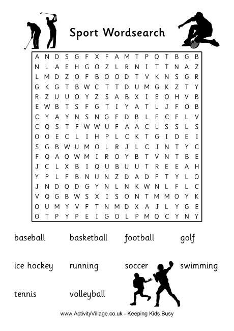 printable word search about sports 5 best images of printable sports word search puzzles