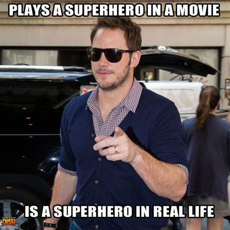 Chris Pratt Meme - chris pratt played a hero in quot guardians of the galaxy quot and