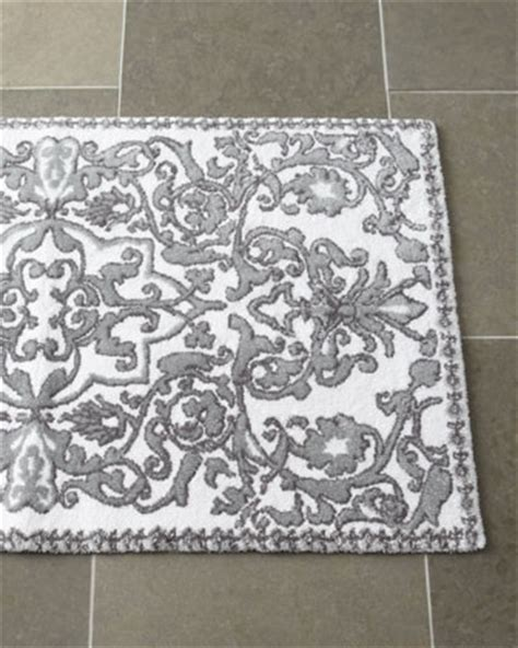 Grey And White Bathroom Rugs Bath Rug Traditional Bathroom Accessories By Horchow
