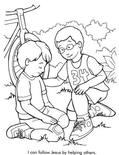 coloring pages jesus saves coloring pages of kids helping others recursos