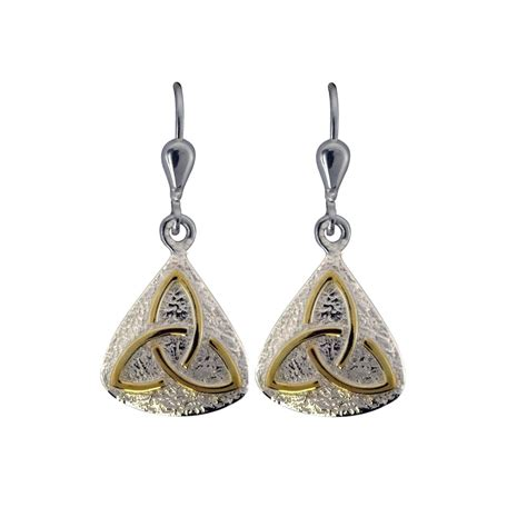 earrings sterling silver with gold plated