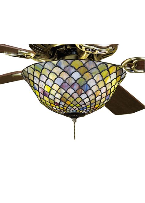 tiffany ceiling fan light kit meyda tiffany 27451 fishscale tiffany ceiling fan light
