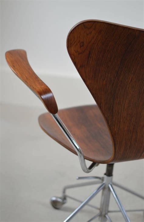 swivel desk chair with arms arne jacobsen rosewood swivel desk chair with arms at