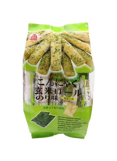 Pocky Tenun 1 peitien crackers rice seaweed pck 130g klikindomaret