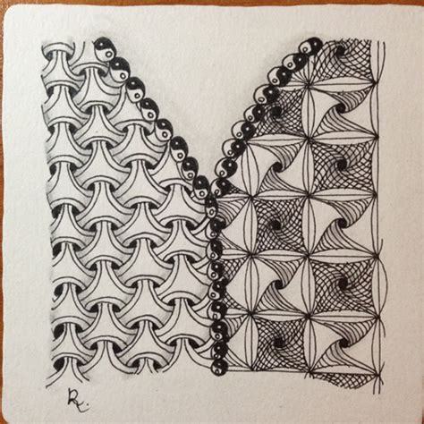 zentangle pattern floor finished quot y quot tile incorporating y ful power yew dee and