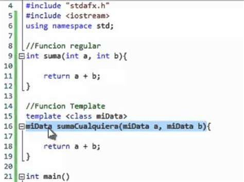 c function templates tutorial espa 241 ol youtube