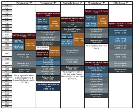 Of Iowa Mba Pm Schedule by Judges Schedule Molson Mba International