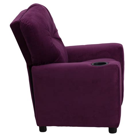 purple recliner flash furniture contemporary purple microfiber kids
