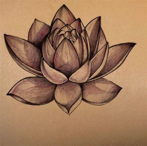 dark lotus tattoo lotus flower on skin stencil temporary