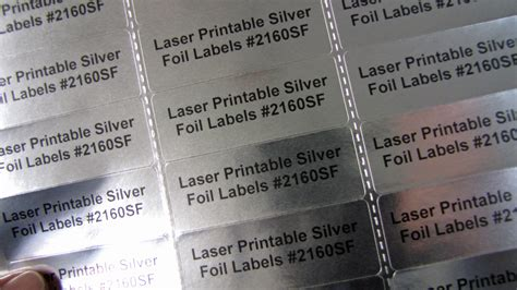 silver foil       labels laser  sheets sf