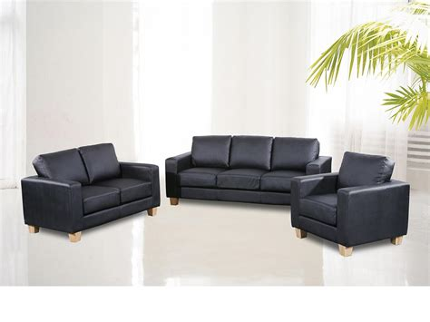 Leather Sofa Suite Chesterfield 3 2 1 Faux Leather Sofa Suite Available In Black Brown Or