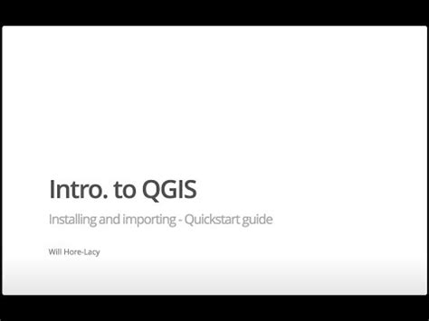 intro. to qgis installing and importing
