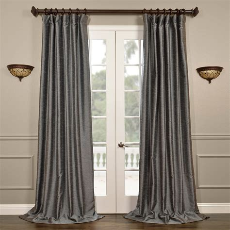 best price on curtains salt and pepper yarn dyed faux dupioni silk curtain