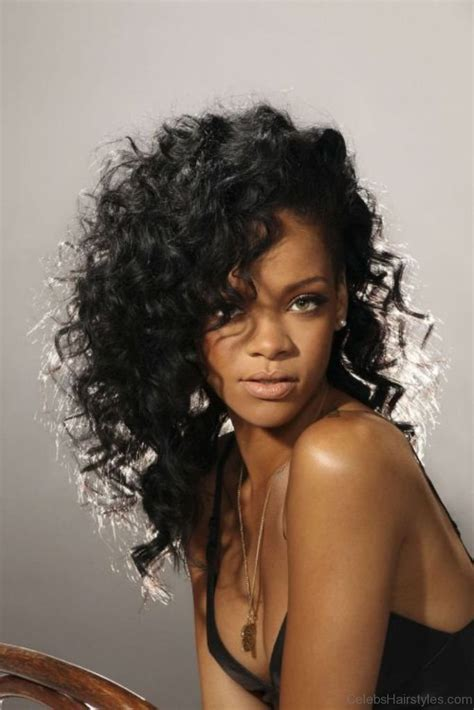 Rihanna Curly Hairstyles by 55 Attractive Hairstyles Of Rihanna