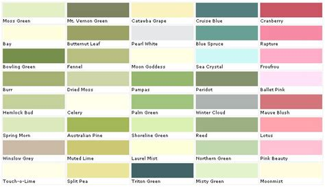 lowe s paint colors lowes paint color chart house paint color chart chip