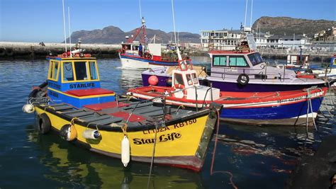 small fishing boats south africa kalk bay cape town south africa july 2012 fishing