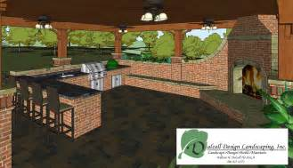 Outdoor Kitchen Blueprints Outdoor Living Space And Outdoor Kitchen Dalzell Design