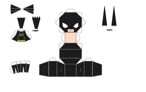 Papercraft Batman - lego batman chibi papercraft by thestickfigureking on