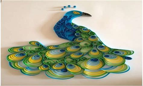 How To Make Paper Quilling Peacock - amazing interior design paper quilling peacock paper