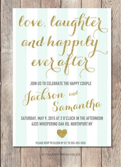 Wedding Wishes Happily After by Engagement Invitation Printable Engagement