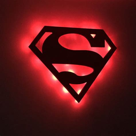 Superman Wall Sign Trä och Inspiration