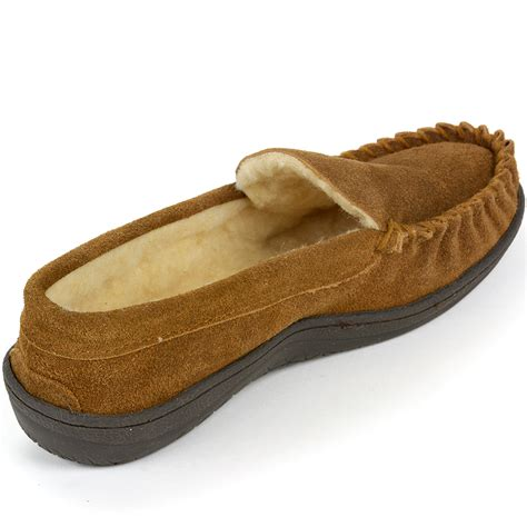three house shoes alpine swiss sabine womens suede shearling moccasin slippers house shoes slip on martlocal