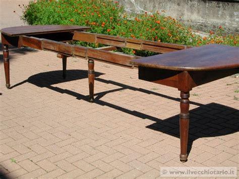 tavoli d epoca tavolo allungabile antico tavoloovale allungabile in noce