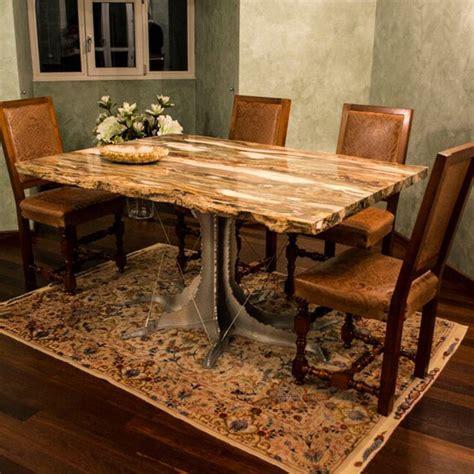 fossil dining table tavolo rettangolare in legno fossile