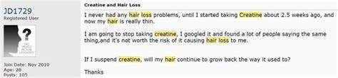 creatine and hair loss creatine hair loss reversible