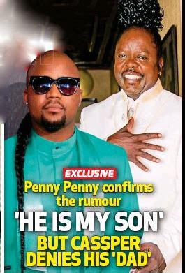 who is the father of cassper nyovest casper nyovests father papa penny penny penny and caspar