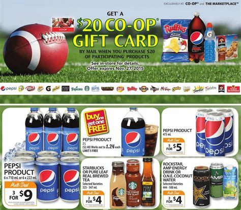 Co Op Gift Cards - co op western canada 20 gift card when you spend 20 on pepsico products canadian