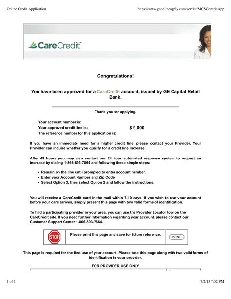 approved  carecredit myfico forums