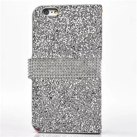 Glitter Skin Iphone 6 6s Silver for iphone 6 6s plus luxury glitter bling leather
