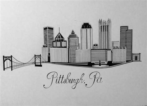pittsburgh skyline tattoo pittsburgh skyline by steelcityink on etsy https www