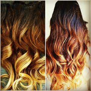 14 clip in hair extensions custom colored or ombre by