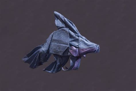 Origami Betta Fish - origami lokta tissue betta fish by kamiwasa on deviantart