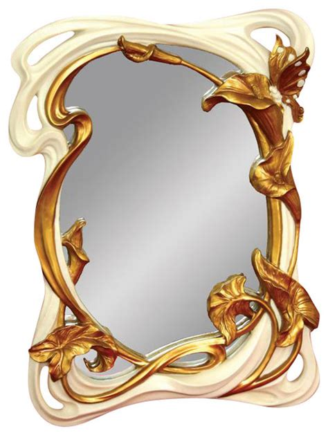 Home Decorative Accents by Standing Hanging Hand Painted Art Nouveau Butterfly Mirror