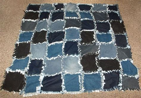 Old blue jean quilt i remember these i think the idea to use the