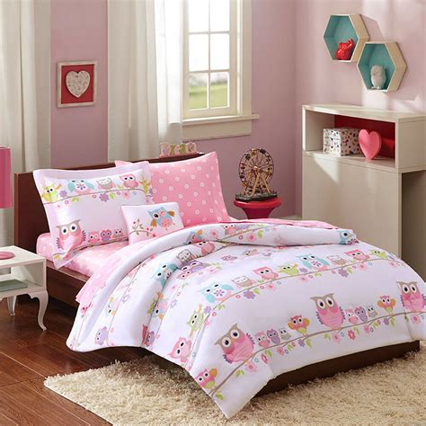 modern purple pink stripe soft girls bed  bag comforter set twin full queen ebay