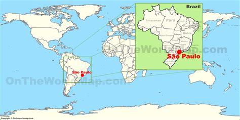 sao paulo on world map s 227 o paulo on the world map
