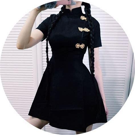 gothic wedding dresses chinese clothing chinese dress japanese black harajuku vintage gothic lolita slim chinese