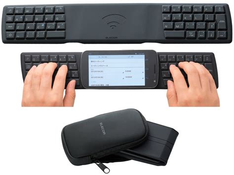 android phone with keyboard nfc portable keyboard for android phones the gadgeteer