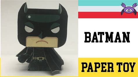 Paper Toys For To Make - how to make a batman paper papercraft free