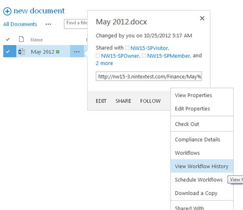 workflow history viewing workflow history