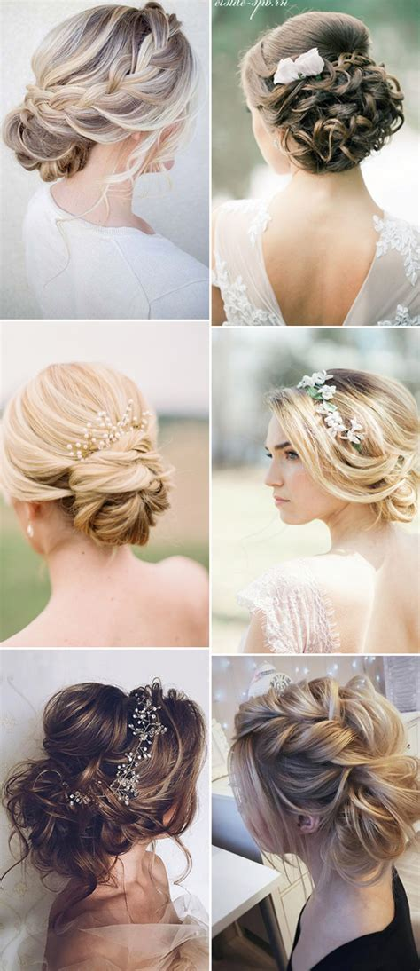 Wedding Hairstyles Updos Bridesmaids by 2017 New Wedding Hairstyles For Brides And Flower