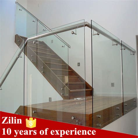 glass banister cost stair glass railing prices glass balcony railing handrail