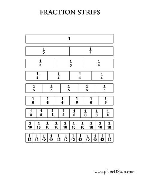 printable math worksheets fraction bars fraction strips worksheets 3rd grade fractions