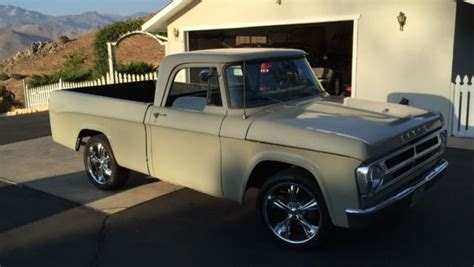 dodge d 100 shortbed sweptline no reserve auction