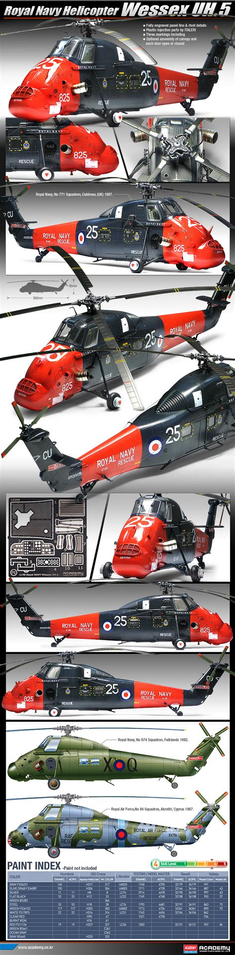 academy 1 48 wessex uh 5 12299 plastic model kit from emodels model hobby store based in the uk